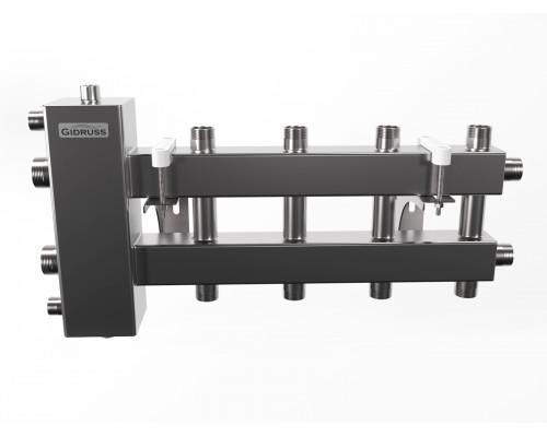 BMSS-100-5DU (до 100 кВт, подкл. котла G 1¼″, 2+2+1 контура G 1″, зеркально-матовая полировка)